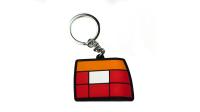 Nifty. Snpbcks - Jetta MK2 Taillight Keychain | Red/Orange